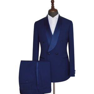 Men's Navy Blue 2 Piece Tuxedo
